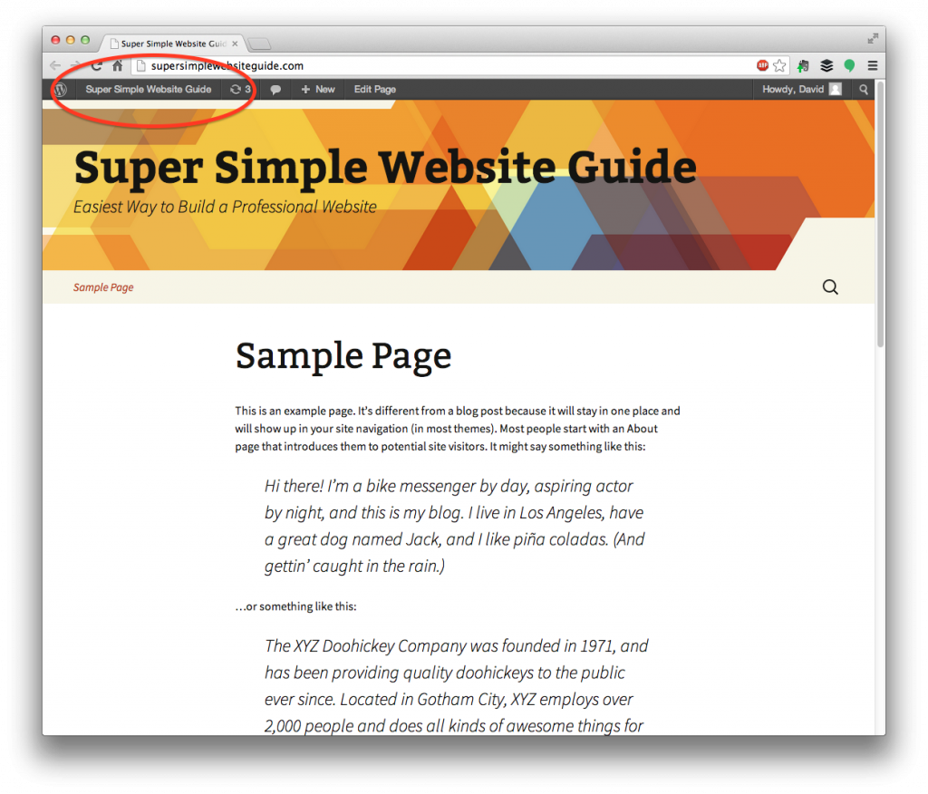 Sample Page: How To Add Pages And Posts To Your WordPress Website