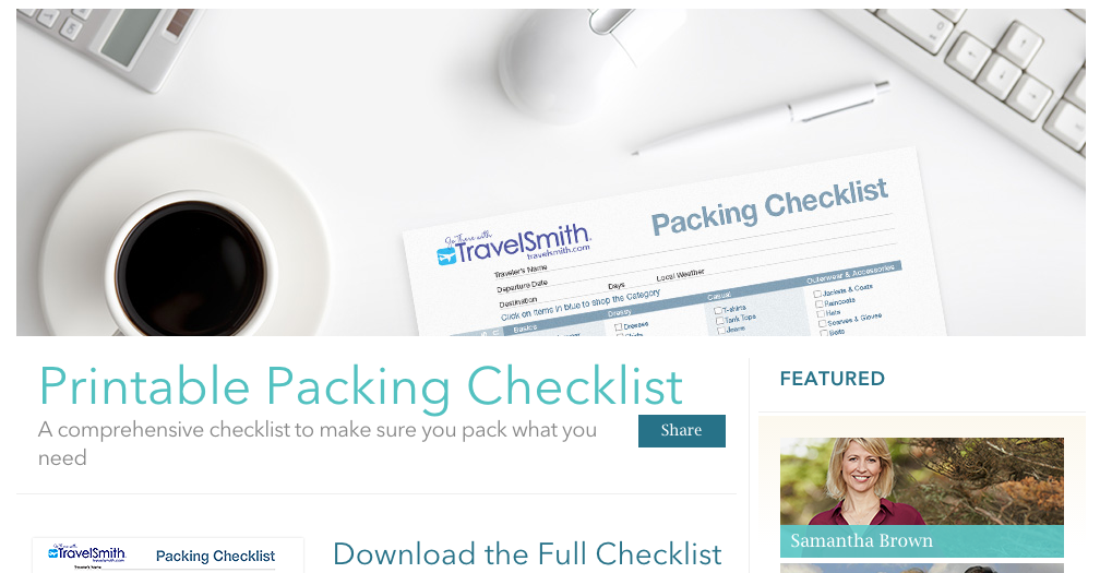 content marketing ideas checklist