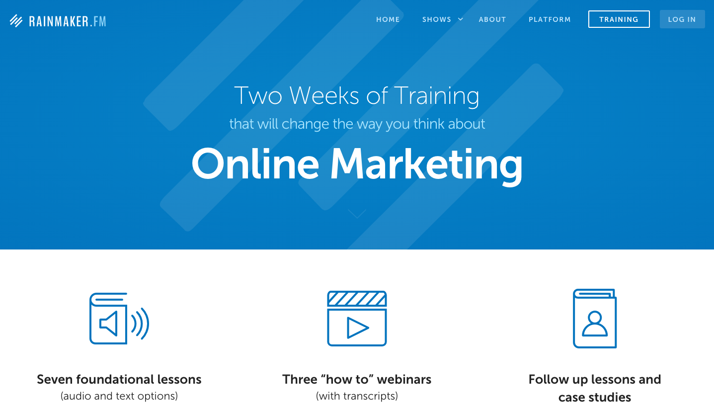 content marketing ideas course
