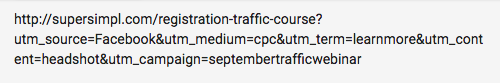 google tracking url