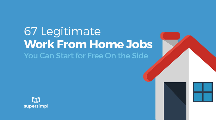 67 legitimate work from home jobs graphic